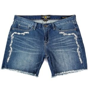 Lucky Brand 'Abbey Short' Embroidered Cut Offs VGC